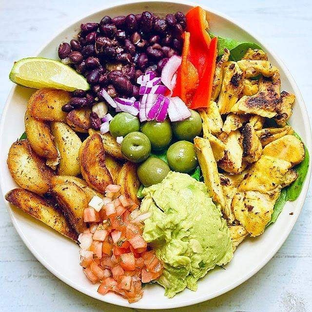 deconstructed chicken & potato taco bowl by display image  6a702b0e