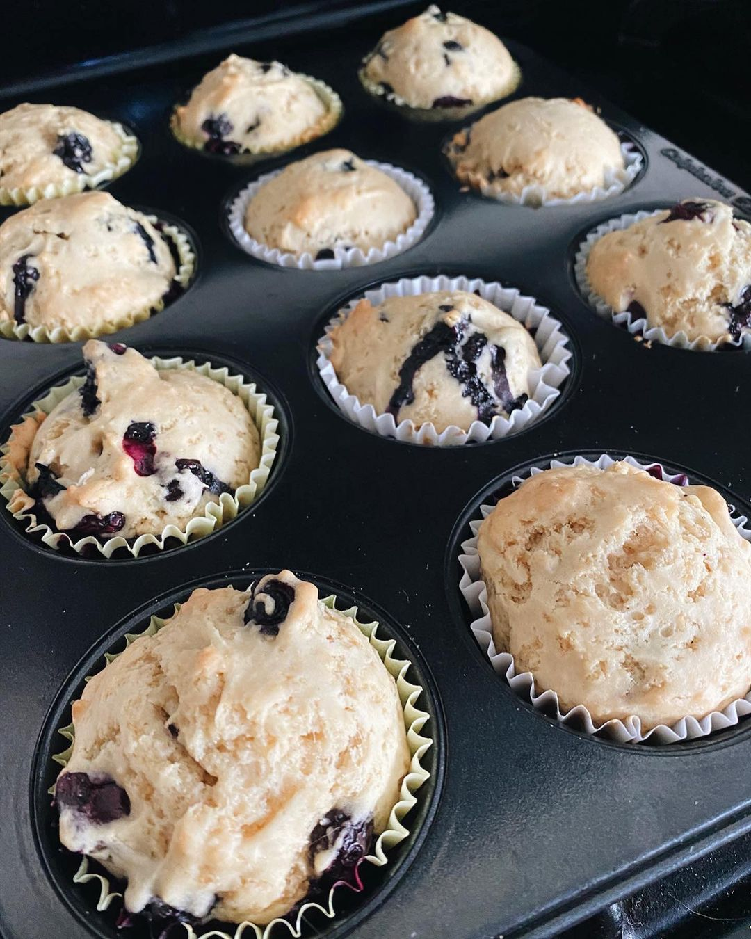 these vegan blueberry muffins were to die for display image  edb35720