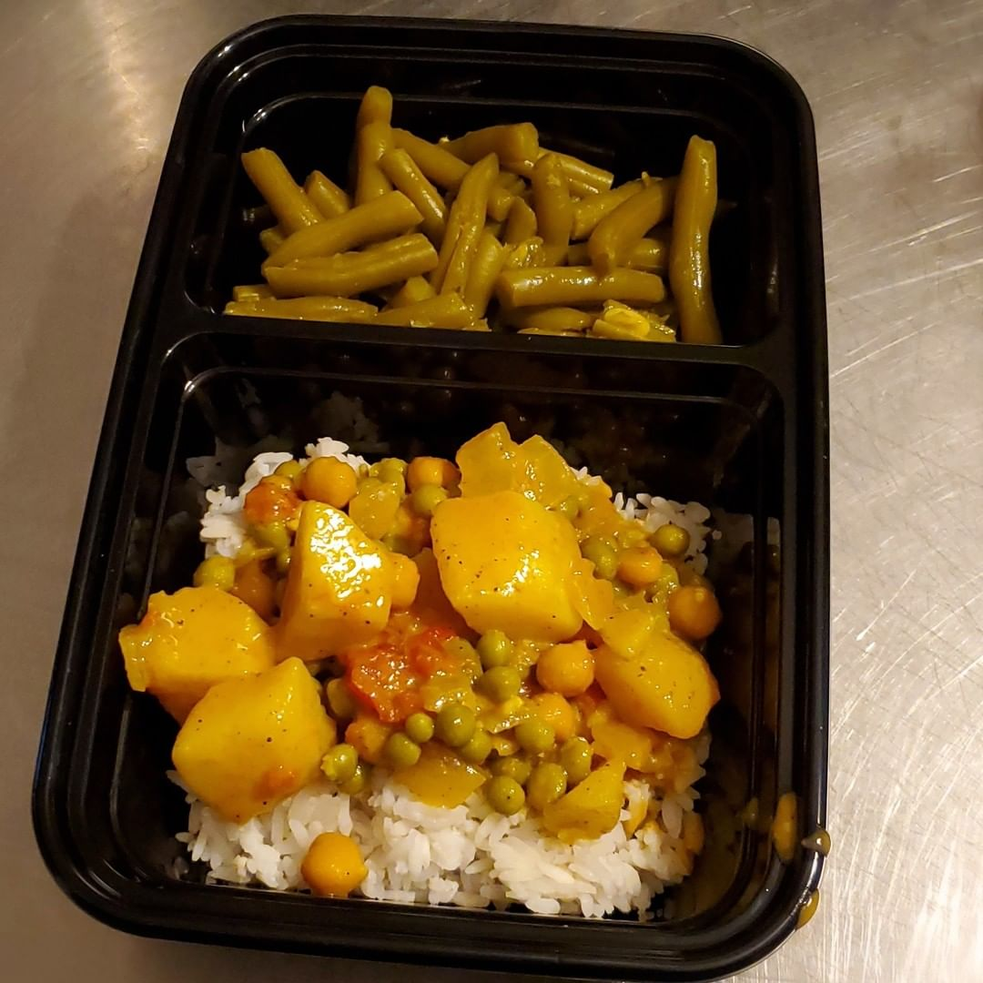 potato curry rice and string beans for today thank you display image dfcc