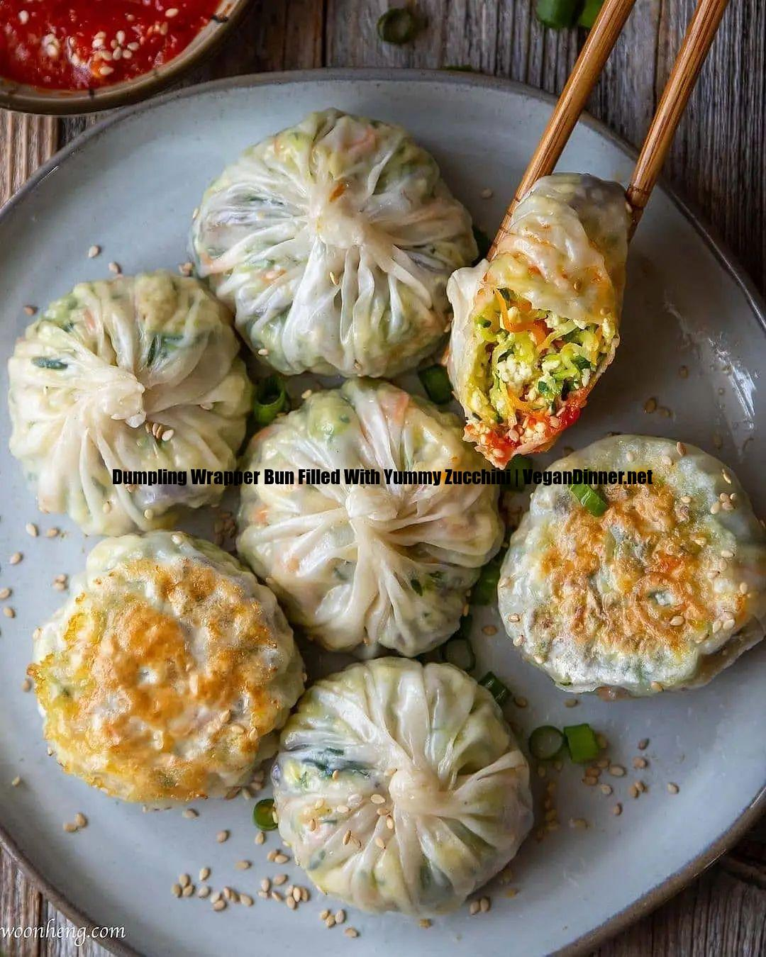 dumpling wrapper bun filled with yummy zucchini display image ad
