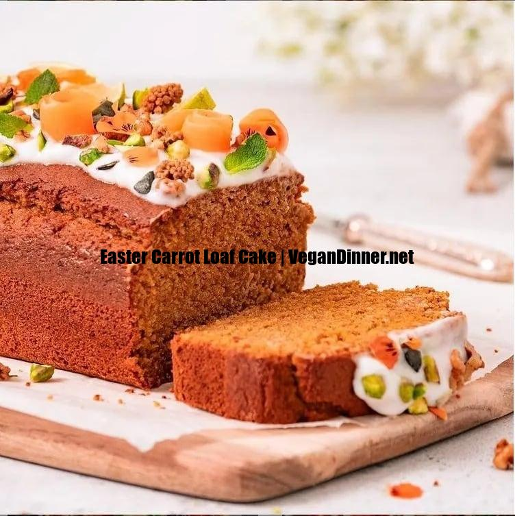 easter carrot loaf cake display image a