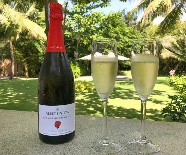 Salinda Resort vegan champagne