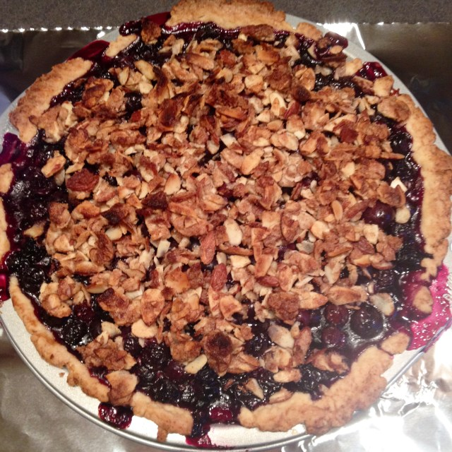 Blueberry Almond Pie
