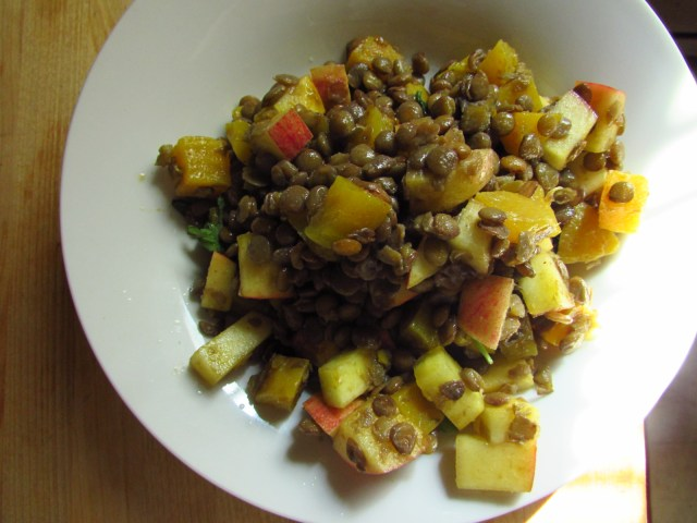 Fall Lentil Salad with Apples and Beets - Vegan Heartbeats