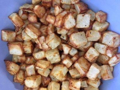 """Air-Fried Potato and """"Egg"""" Wrap"""