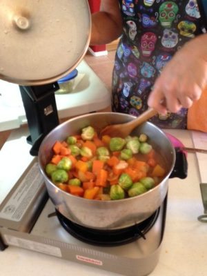 Terri's Butternut Squash Coconut Curry Stew with Tempeh