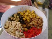 The Makings for the Grilled Potato & Veggie Salad