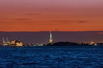 tramonto dal battello