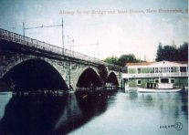 Albany Street Bridge in New Brunswick Postcard