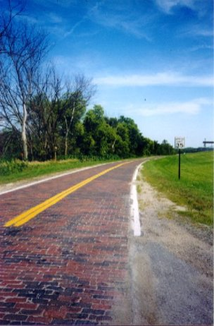 Historic brick paving near Elkhorn Photo by Bob Stubblefield