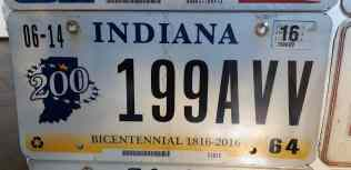 license plates Indiana