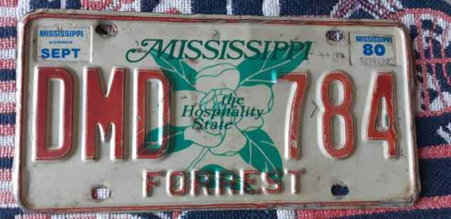 license plates Mississippi