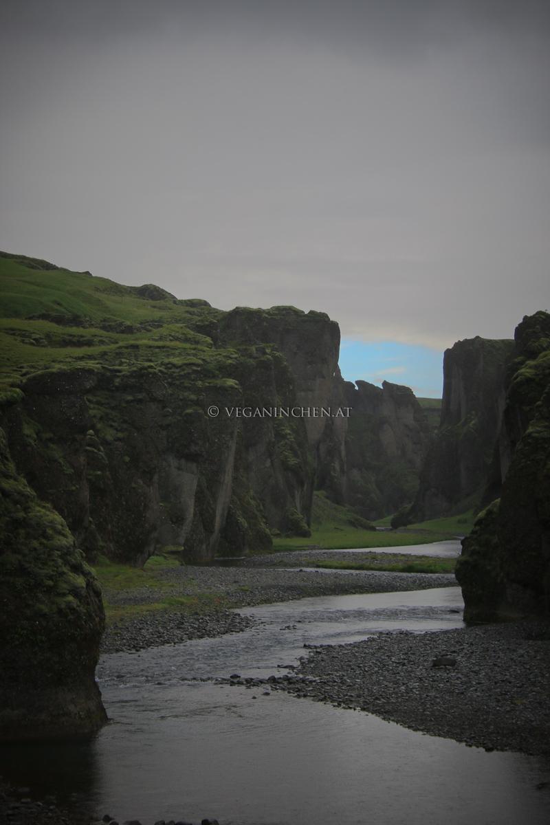 Schlucht Fjaðrárgljúfur Island