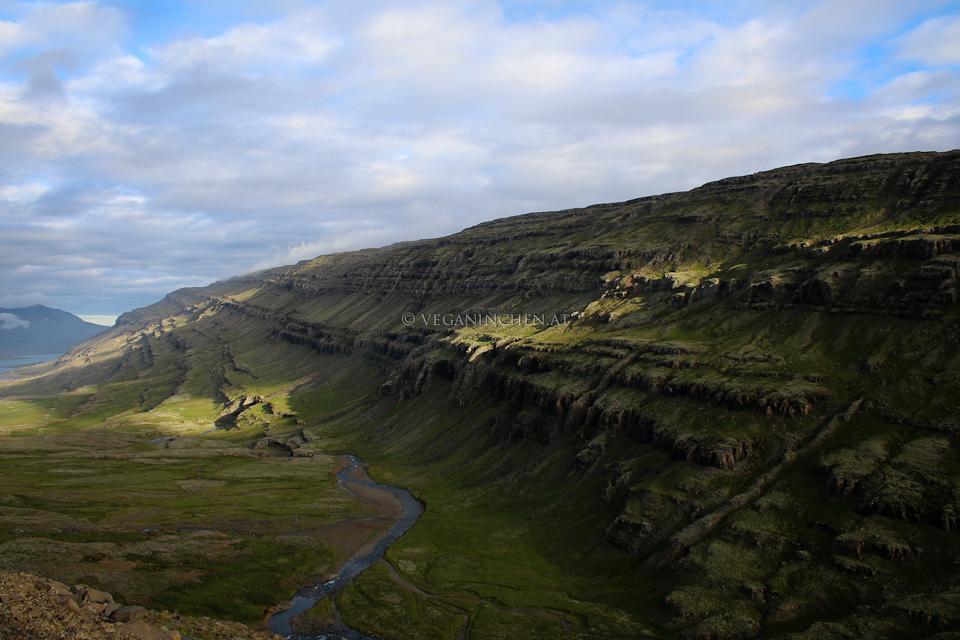 tertiäre Basaltformen Ostfjorde Island