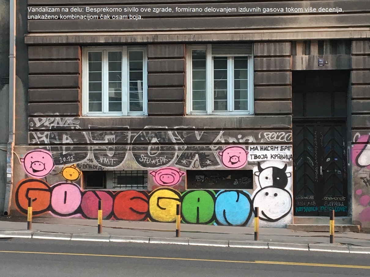vandalizam na delu