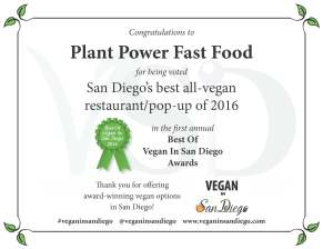 Best Restaurant 2016 Plant Power