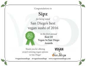 Best Sushi 2016 Sipz