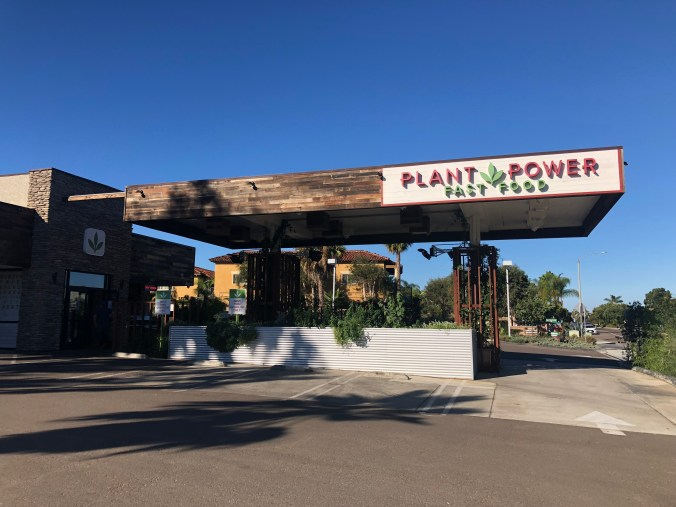 Photo of Plant Power Fast Food storefront.
