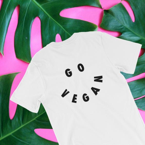 The Go Vegan Smiley Shirt