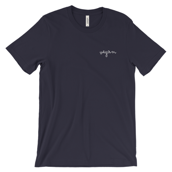 grey vegan shirt
