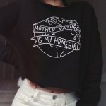Mother Nature Is My Homegirl Cropped Crewneck by Veganized World Apparel
