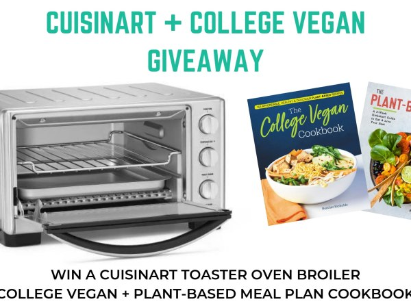 Cuisinart Toaster Oven Giveaway! Plus College Vegan + Plant-Based Meal Plan Cookbooks