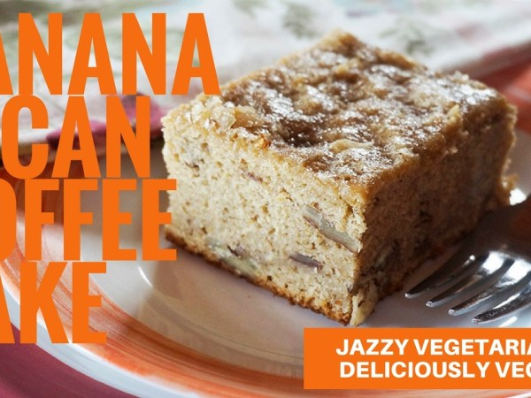Laura Theodore's Banana-Pecan Vegan Coffee Cake from Jazzy Vegetarian's Deliciously Vegan