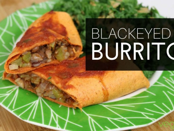 Healthy burritos recipe: vegan blackeyed pea burritos from The Plant-Based Diet Meal Plan cookbook by @heathernicholds C.H.N.