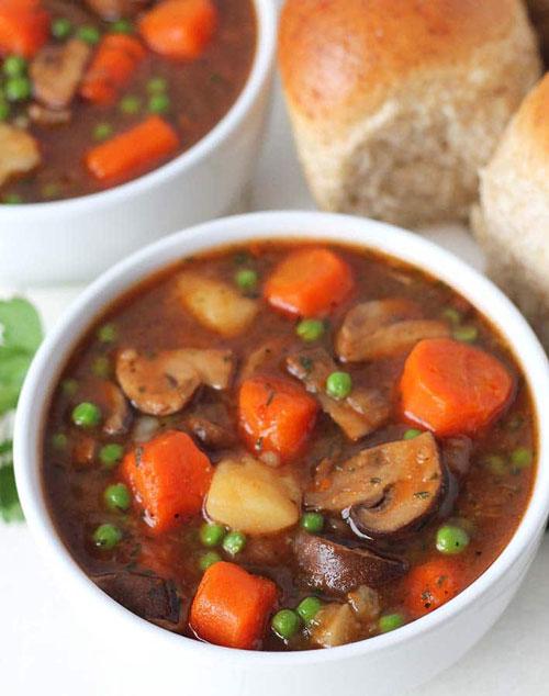 Vegan Mushroom Stew Recipes by Gwen of Delightful Adventures