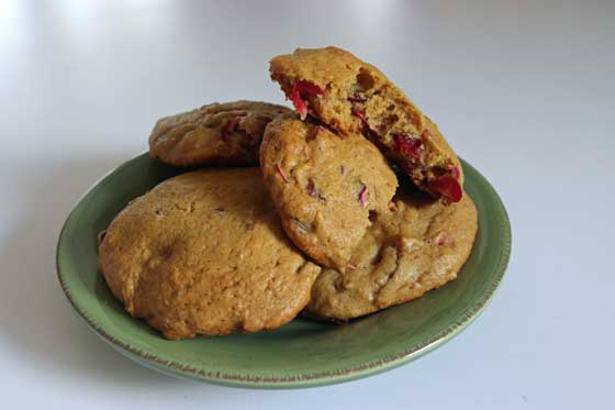 Fresh Cranberry Cookies || Healthy Vegan Holiday Recipe