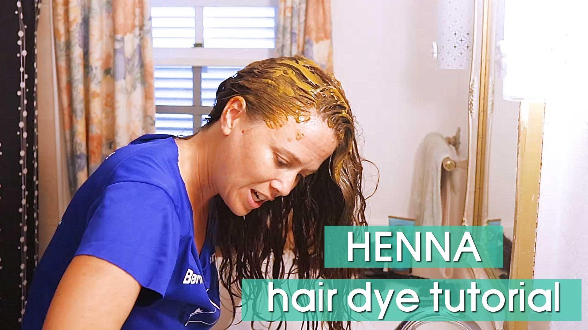 Natural Henna Hair Dye Tutorial How I Dye My Hair At Home