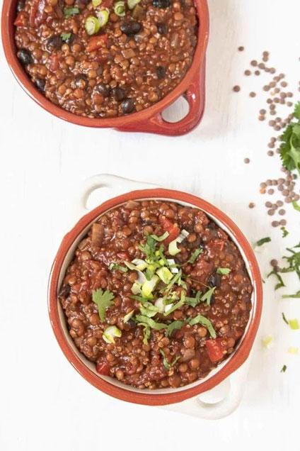 Vegan Quinoa Chili with Stout, In Fine Balance