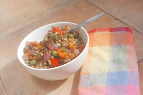 Savory oatmeal with balsamic