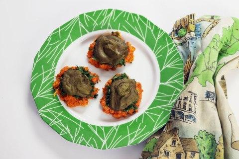 Vegan sweet potato nests - savory holiday brunch recipe
