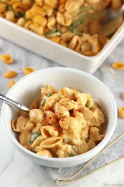 Buffalo Cauliflower Mac & Cheese by V Nutrition