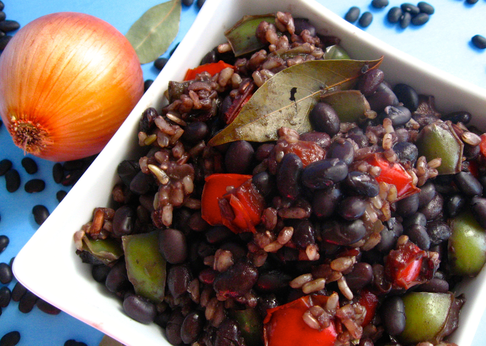 Authentic Cuban Black Beans and Rice veganprogram