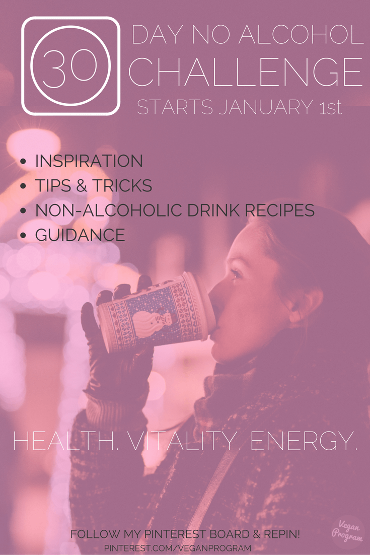 30day no alcohol challenge dryjanuary veganprogram