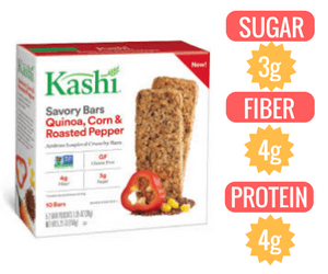 vegan granola bar Kashi Quinoa Corn & Roasted Red Pepper Bar veganprogram