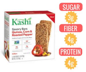 vegan granola bar Kashi Quinoa Corn & Roasted Red Pepper Bar veganprogram