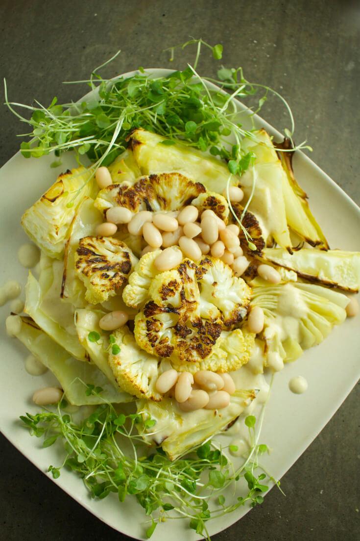 healthy winter warm vegan salad veganprogram