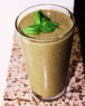 Vegan fitness recovery smoothie