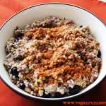Week 8 of Marathon Training. Classic Steel-Cut Oatmeal with Blueberries – the Most Comforting Breakfast!