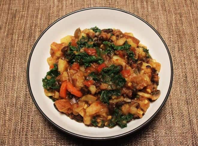 The Recipe: Black Bean-Potato Stew with Kale