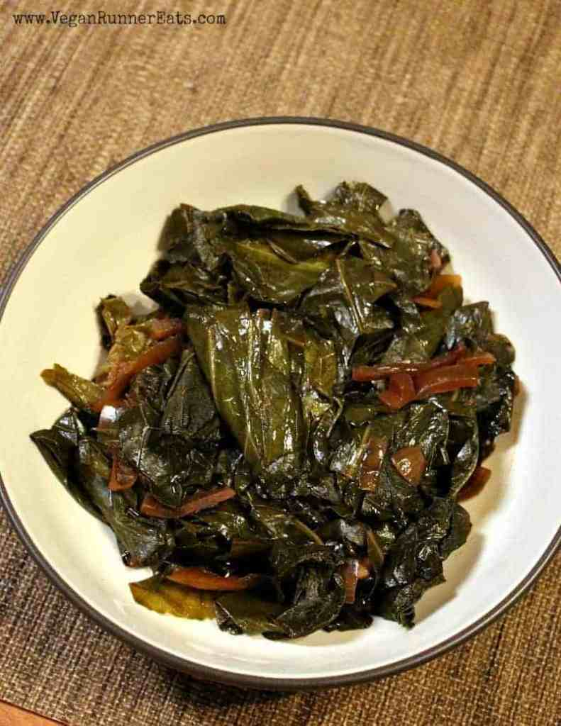 Classic vegan slow cooker collard greens recipe