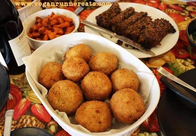 Vegan stuffed Italian rice balls recipe