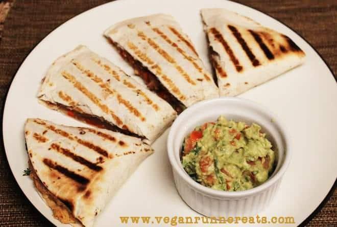 Cheeseless vegan quesadillas recipe