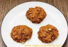 Vegan peanut butter cookies with pumpkin