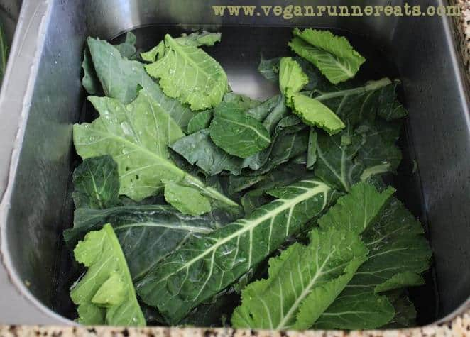 How to wash collard greens for slow cooking