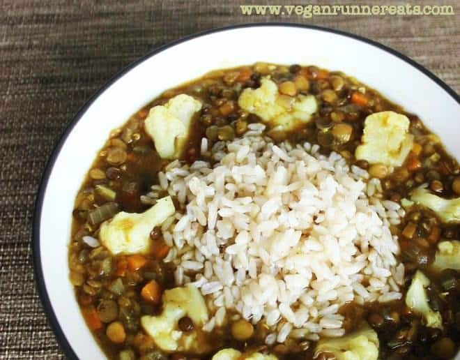 vegan triple lentil and cauliflower soup recipe