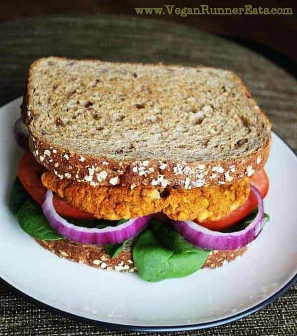 Sweet potato-chickpea vegan burger recipe